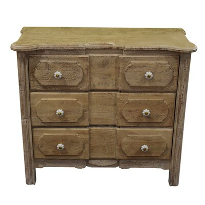 Hille Wooden Dresser 3 Drawer Accent Chest