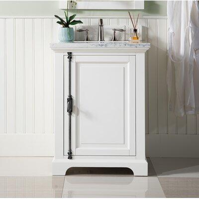 """Durst 26"""" Single Bathroom Vanity Set Top Finish: Carrara White, Base Finish: Cottage White"""