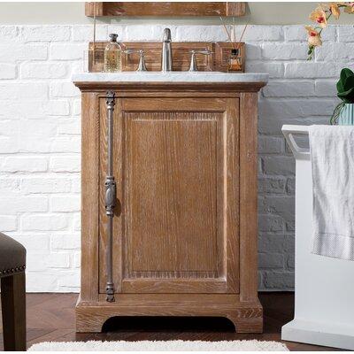 """Durst 26"""" Single Bathroom Vanity Set Top Finish: Carrara White, Base Finish: Driftwood"""