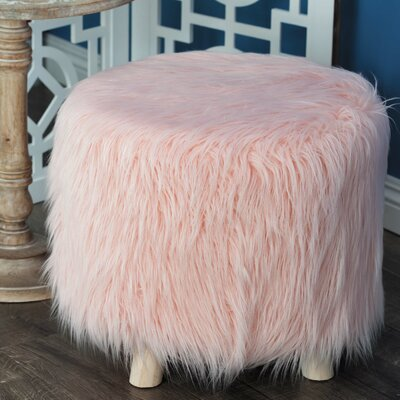 Orellana Round Wooden Vanity Stool Color: Pink