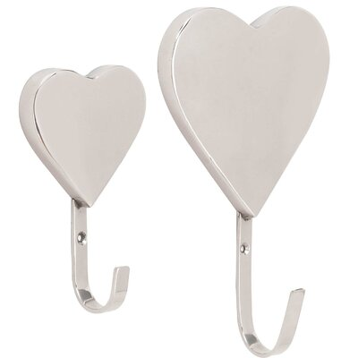 Bomar Heart 2 Piece Wall Hook Set