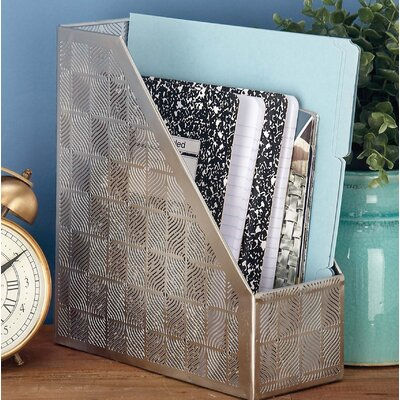 Hodgkins Contemporary Plaid Magazine Rack