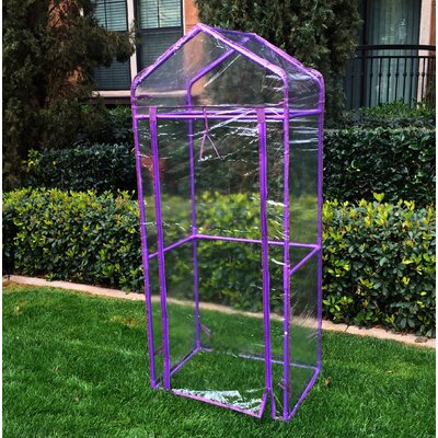 Mobile Green Wall 2.41 Ft. W x 1.75 Ft. D Mini Greenhouse