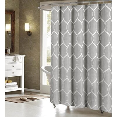 Holcomb Wrinkle Wave Fabric Shower Curtain Color: Gray