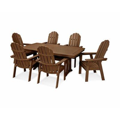Vineyard Adirondack Nautical Trestle 7 Piece Dining Set Chair Color: Teak, Table Color: Teak