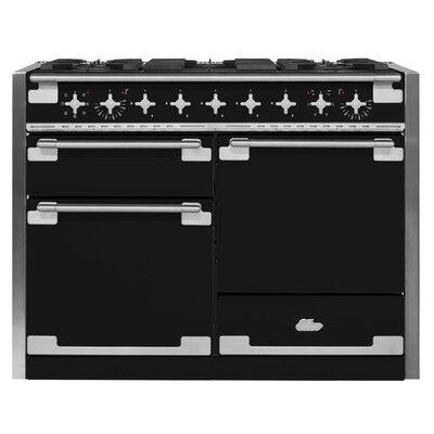 "Elise 48"" Free-Standing Dual Fuel Range Color: Matte Black"