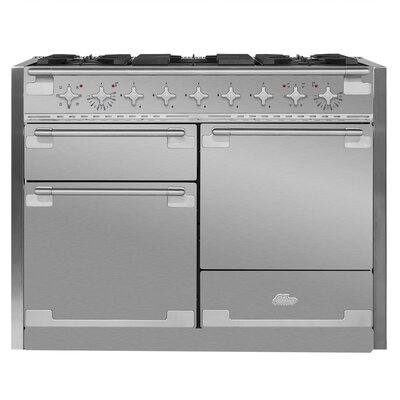 """Elise 48"""" Free-Standing Dual Fuel Range Color: Stainless Steel"""