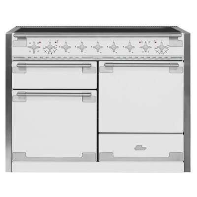 """48"""" Elise Free-Standing Electric Range Color: White"""