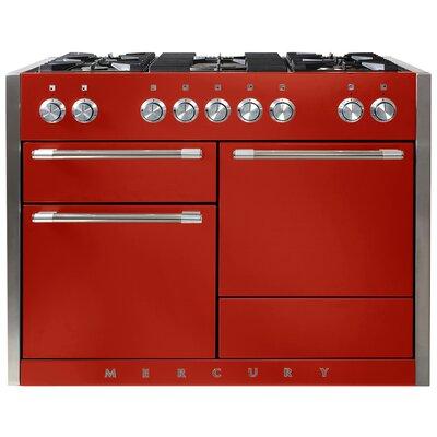 "Mercury 48"" Free-Standing Dual Fuel Range Color: Scarlet"