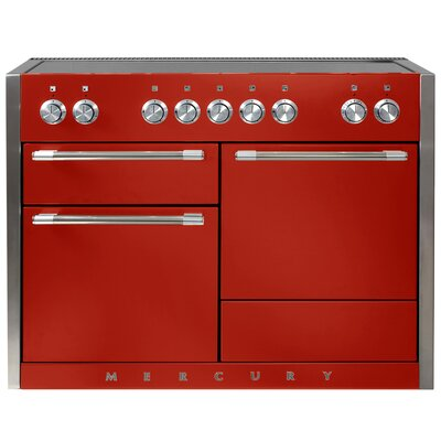 "Mercury 48"" Free-Standing Electric Range Color: Scarlet"