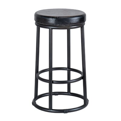 "Kendall Bar & Counter Stool Color: Black, Seat Height: Counter Stool (24"" Seat Height)"