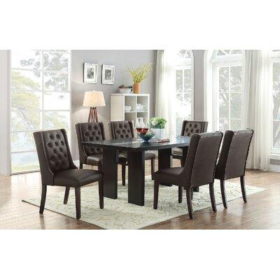 Melgar 7 Piece Dining Set Chair Color: Black