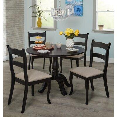 Heslin 5 Piece Dining Set Color: Black