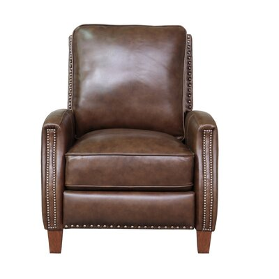 Melrose Leather Manual Recliner Upholstery: Wenlock Double Chocolate