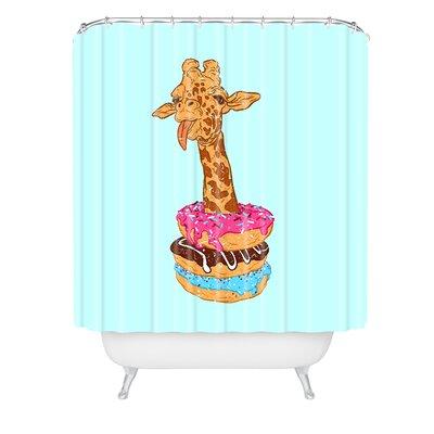 Evgenia Chuvardina Donuts Giraffe Shower Curtain