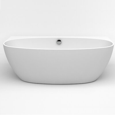 "Jasmine 60"" x 30.7"" Freestanding Soaking Bathtub"