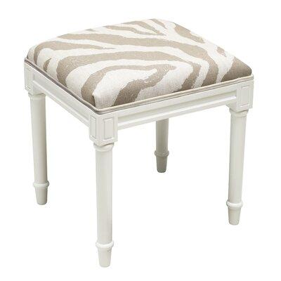Gillispie Zebra Vanity Stool Seat Color: Taupe