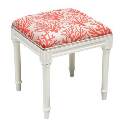 Abelardo Coral Vanity Stool Seat Color: Red