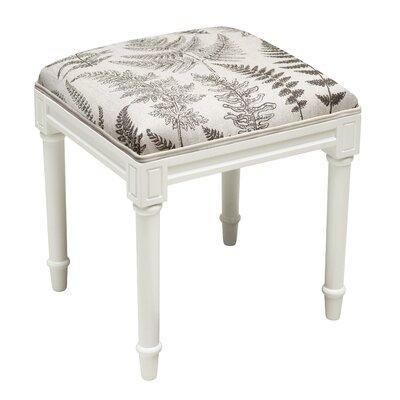 Knightsbridge Fern Vanity Stool Seat Color: Gray