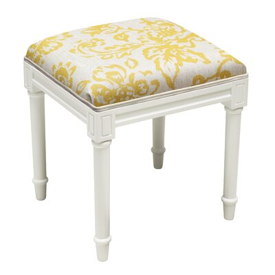 Vanscoy Painterly Vanity Stool Seat Color: Mustard