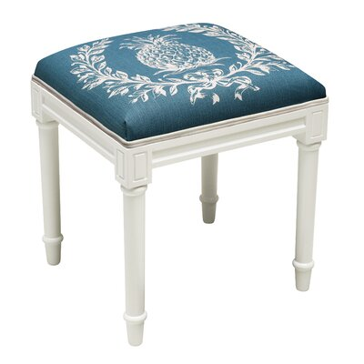 Huntwood Pineapple Vanity Stool Seat Color: Navy