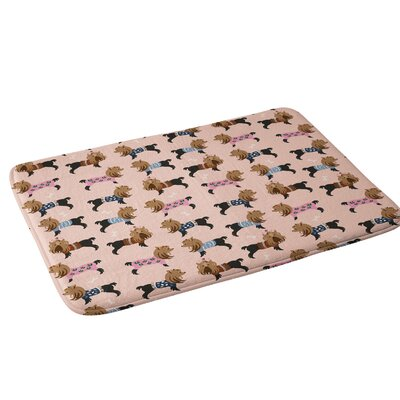 Pimlada Phuapradit Dog Pattern Yorkie Bath Rug
