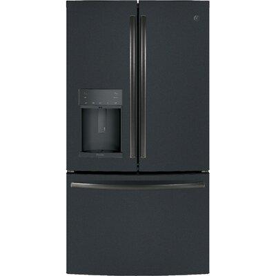 22 cu. ft. Energy Star Counter-Depth French Door Refrigerator Finish: Black Slate