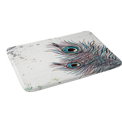 Monika Strigel Boho Peacock Feathers Bath Rug