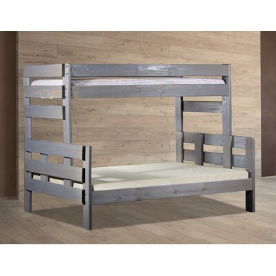 Bartlow Stackable Twin Over Full Bunk Bed Bed Frame Color: Barn