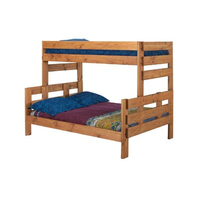 Bartlow Stackable Twin Over Full Bunk Bed Bed Frame Color: Ginger