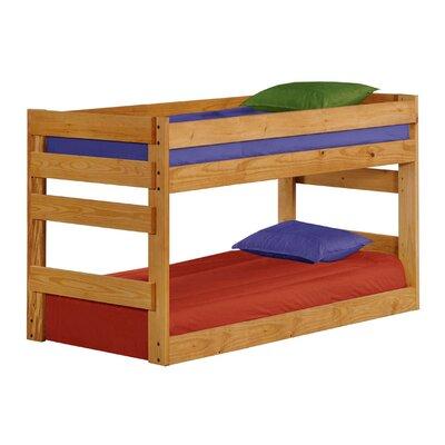 Deramus Bunk Bed Bed Frame Color: Ginger, Size: Twin