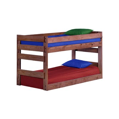 Deramus Bunk Bed Size: Extra-Long Twin, Bed Frame Color: Mahogany