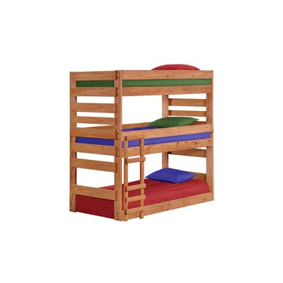 Dabney Stackable Triple Bunk Bed Size: Extra-Long Twin