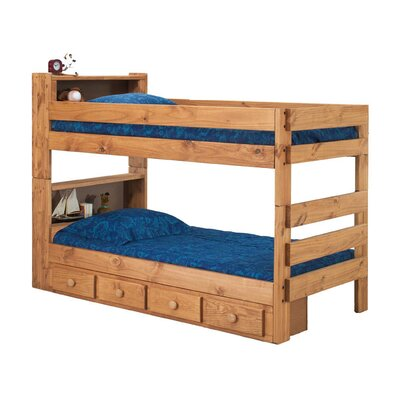 Bloom Bookcase Bunk Bed with Drawers Size: Twin