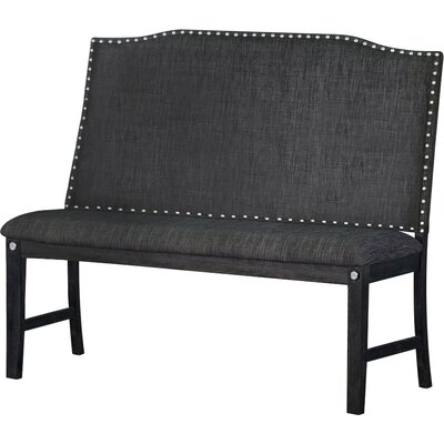 Dyal Upholstered Dining Bench Upholstery: Dark Gray