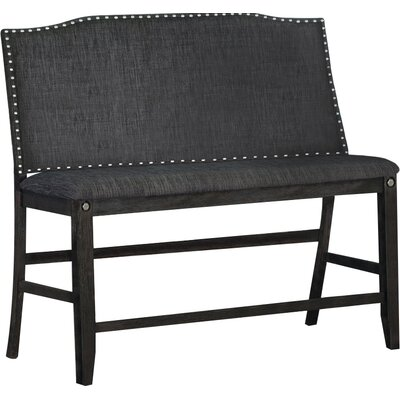 Dylan Counter Height Upholstered Bench Upholstery: Dark Gray