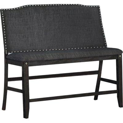 Dylan Counter Height Upholstered Bench Upholstery: Dark Gray