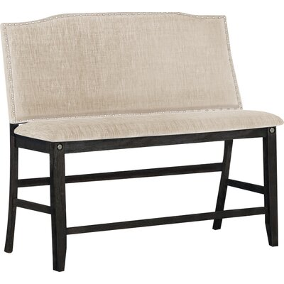 Dylan Counter Height Upholstered Bench Upholstery: Khaki