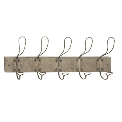 Hocking Industrial Iron Wall Mounted Coat Rack