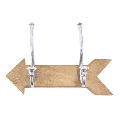 Siegfried Contemporary Arrow Shaped Wall Mounted Coat Rack