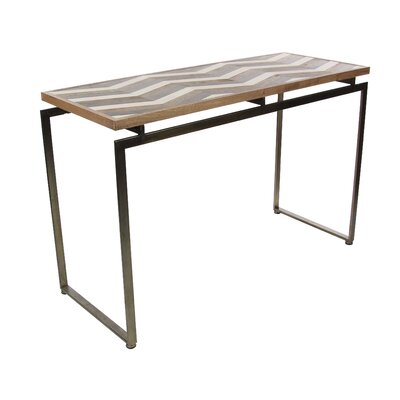 Orona Contemporary Metal Chevron Console Table