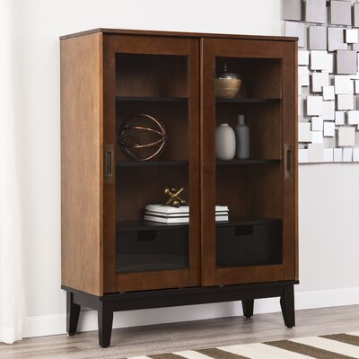 Zhang 2 Drawers Display Accent Cabinet
