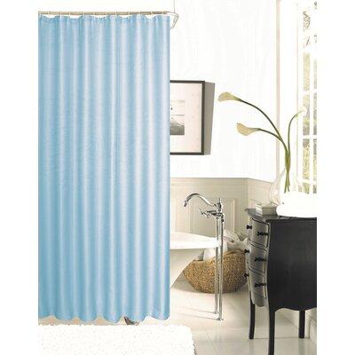 Winnifred Waffle Weave Textured Fabric Shower Curtain Color: Aqua