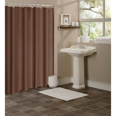 Winnifred Waffle Weave Textured Fabric Shower Curtain Color: Brown