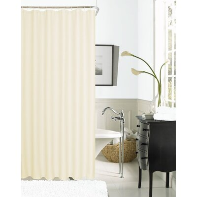 Winnifred Waffle Weave Textured Fabric Shower Curtain Color: Ivory
