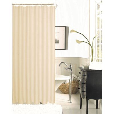 Winnifred Waffle Weave Textured Fabric Shower Curtain Color: Peach