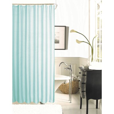 Winnifred Waffle Weave Textured Fabric Shower Curtain Color: Mint