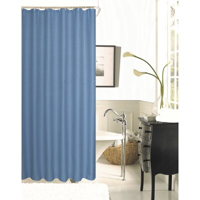 Winnifred Waffle Weave Textured Fabric Shower Curtain Color: River Blue