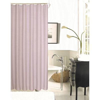 Winnifred Waffle Weave Textured Fabric Shower Curtain Color: Lilac
