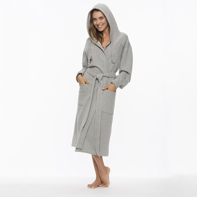 Pierson Hooded Sweatshirt Bathrobe Size: Small